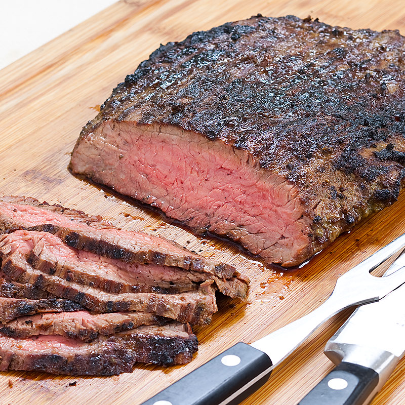 Mojo Marinated Flank Steak With Grilled Onions Recipe ...