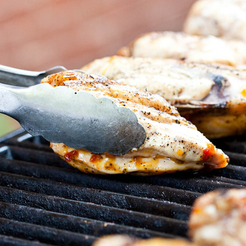 how to cook bone in chicken breast in a pan
