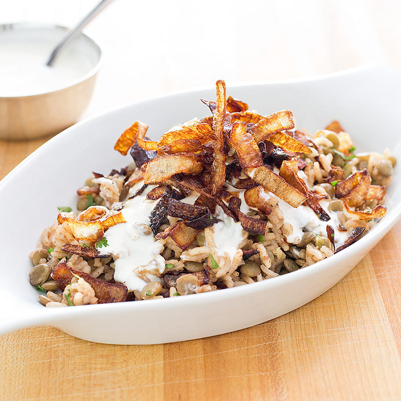 Rice And Lentils With Crispy Onions America S Test Kitchen