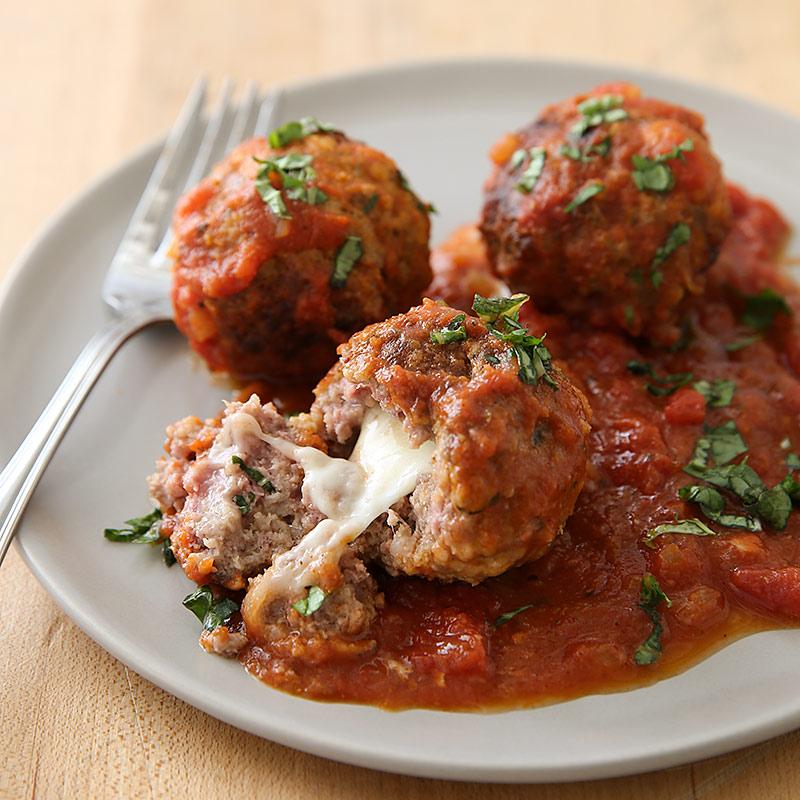 Stuffed Meatballs With Marinara