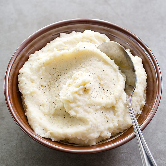 Garlic-Parmesan Mashed Potatoes for Two