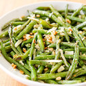 Roasted Green Beans with Pecorino and Pine Nuts