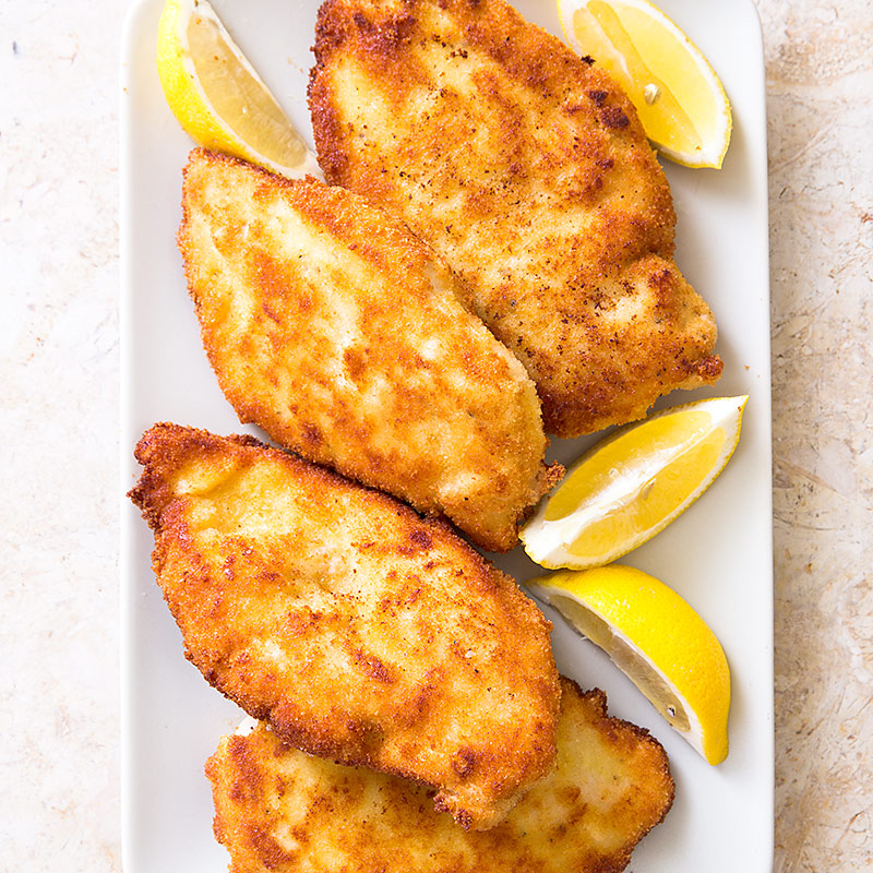 Crisp breaded chicken cutlets with garlic and oregano cooks country forumfinder Choice Image