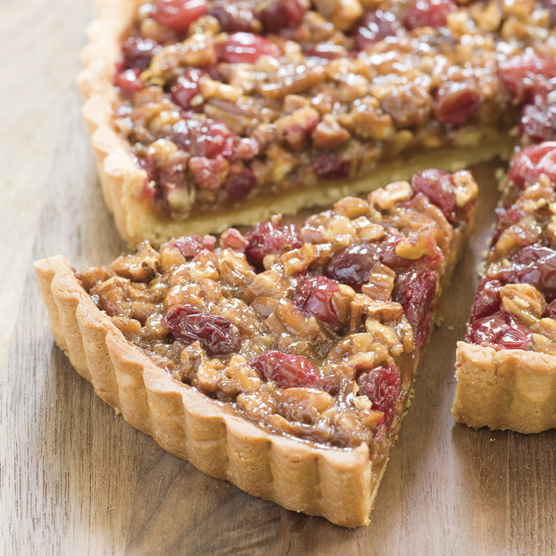 cranberry pecan cranberry pecan tart on plate apple pecan cranberry ...