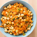 Chickpea Salad with Carrots, Raisins, and Almonds
