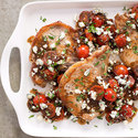 Pork Chops with Cherry Tomatoes and Balsamic Reduction