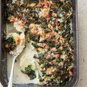 Potato, Ham, and Spinach Gratin