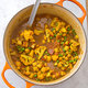 Indian-Style Curry with Sweet Potatoes, Green Beans, and Chickpeas
