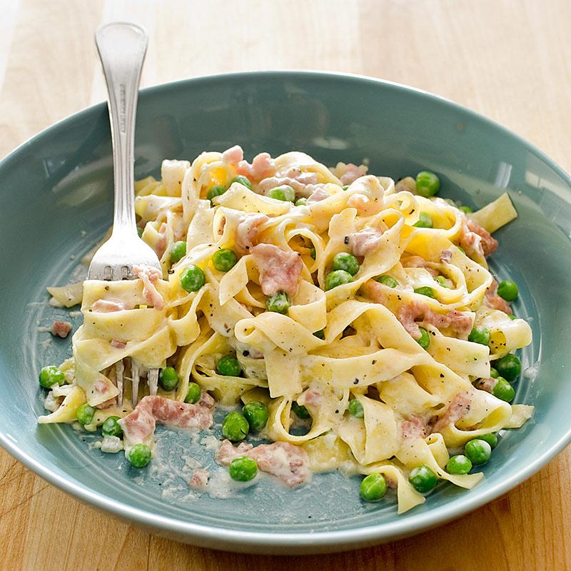 Tagliatelle With Prosciutto And Peas America S Test Kitchen