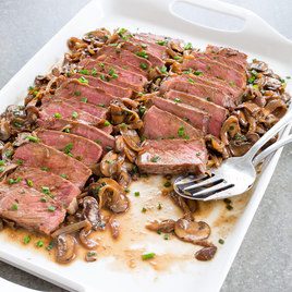 how to cook mushrooms and onions for steak