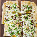 Chorizo and Manchego Breakfast Pizza