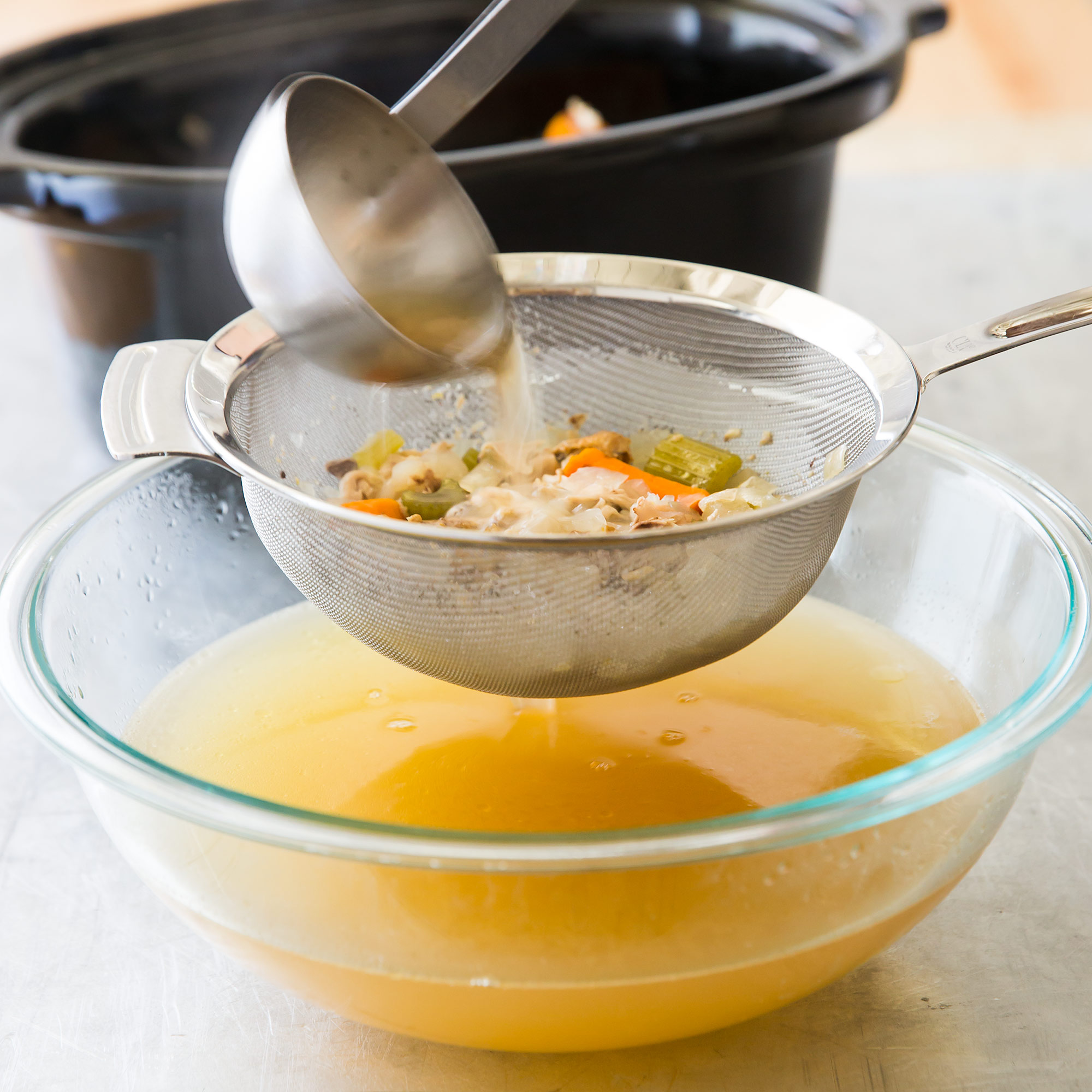 Slow-Cooker Chicken Stock | Cook's Country