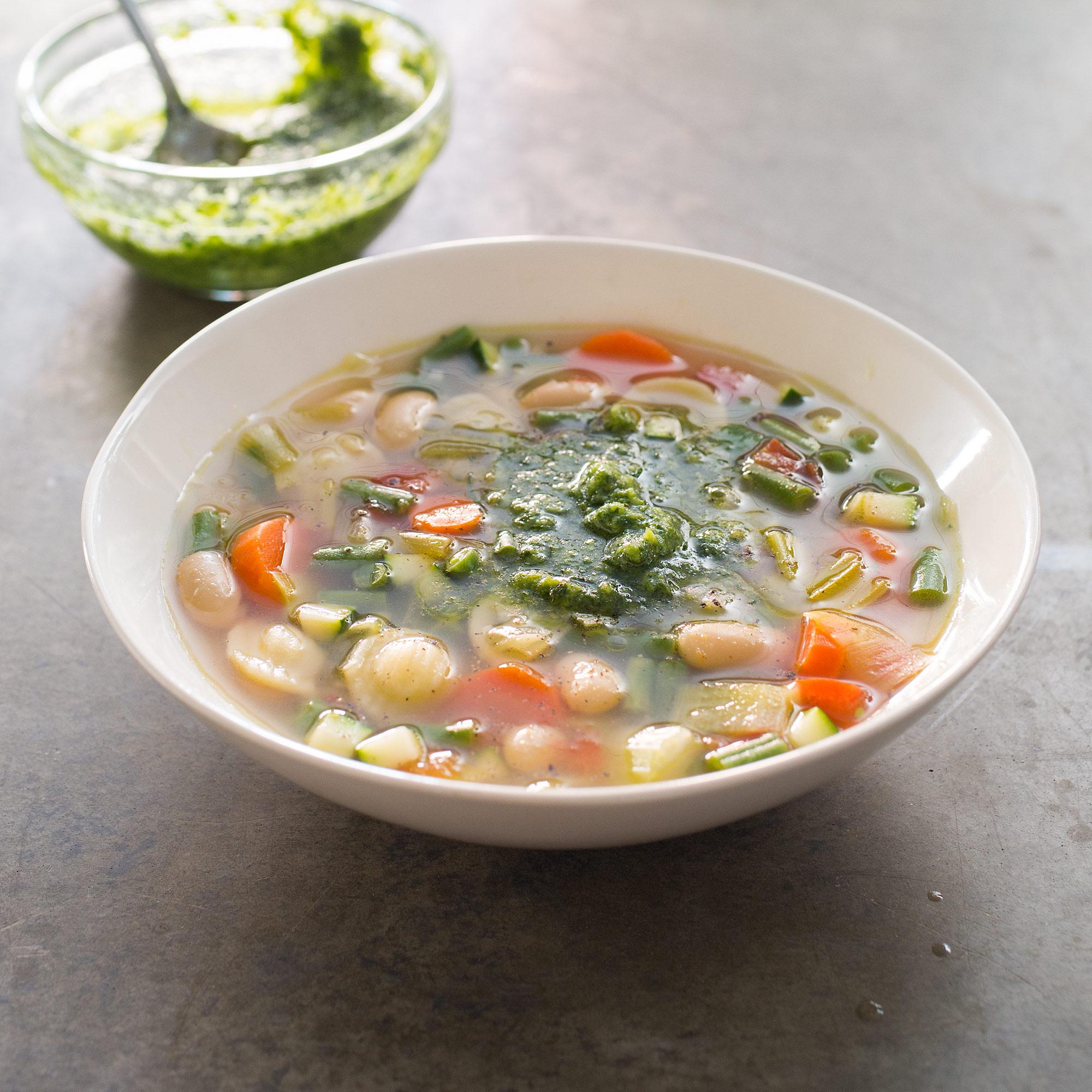 Provencal Vegetable Soup Soupe Au Pistou