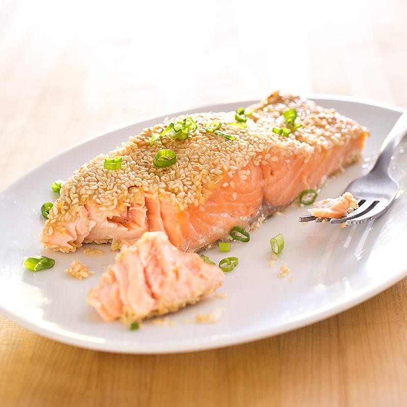 Sesame Crusted Salmon America S Test Kitchen