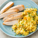 Seared Chicken with Saffron Couscous