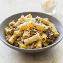 Rigatoni with Sausage and Chives