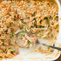 Reduced-Fat Chicken Noodle Casserole