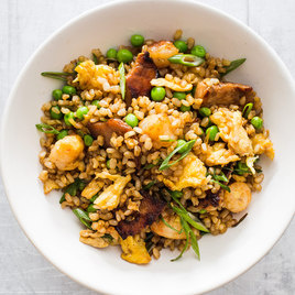 Fried Brown Rice With Pork And Shrimp America S Test Kitchen