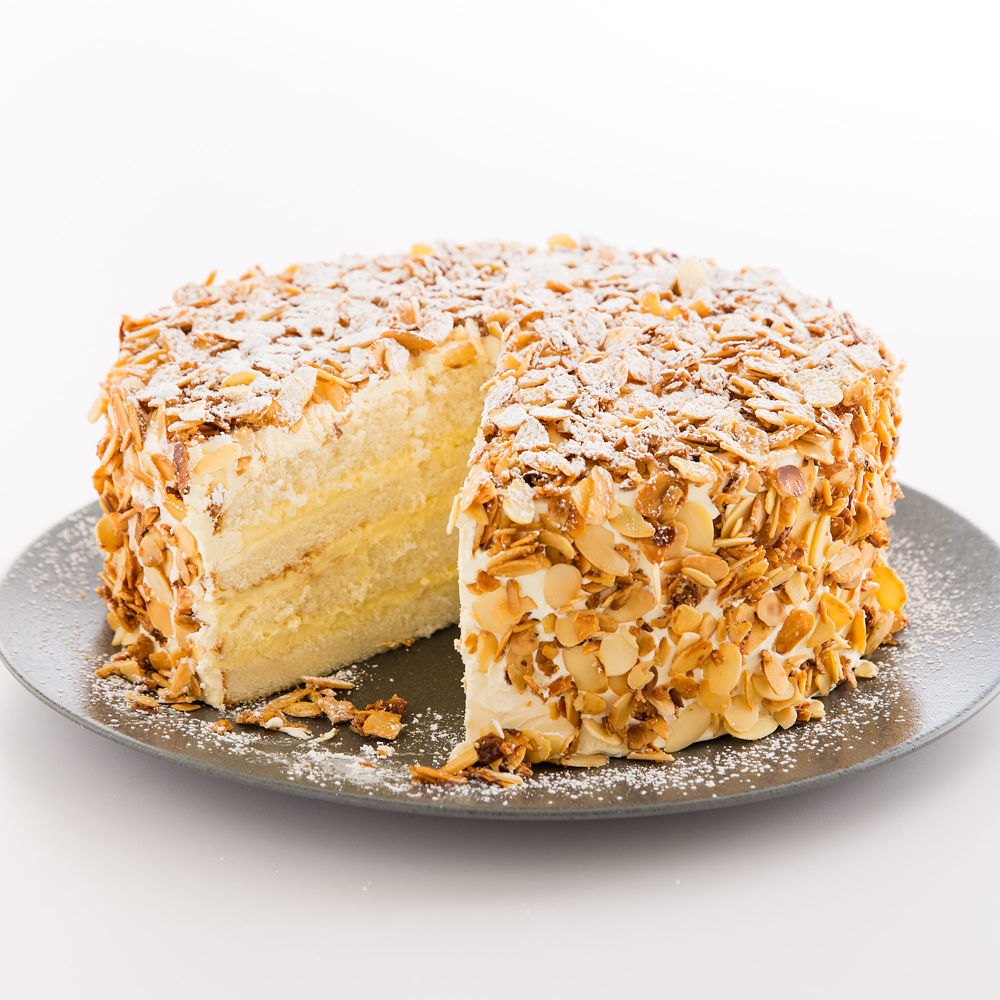 Almond Cake With Coconut Frosting