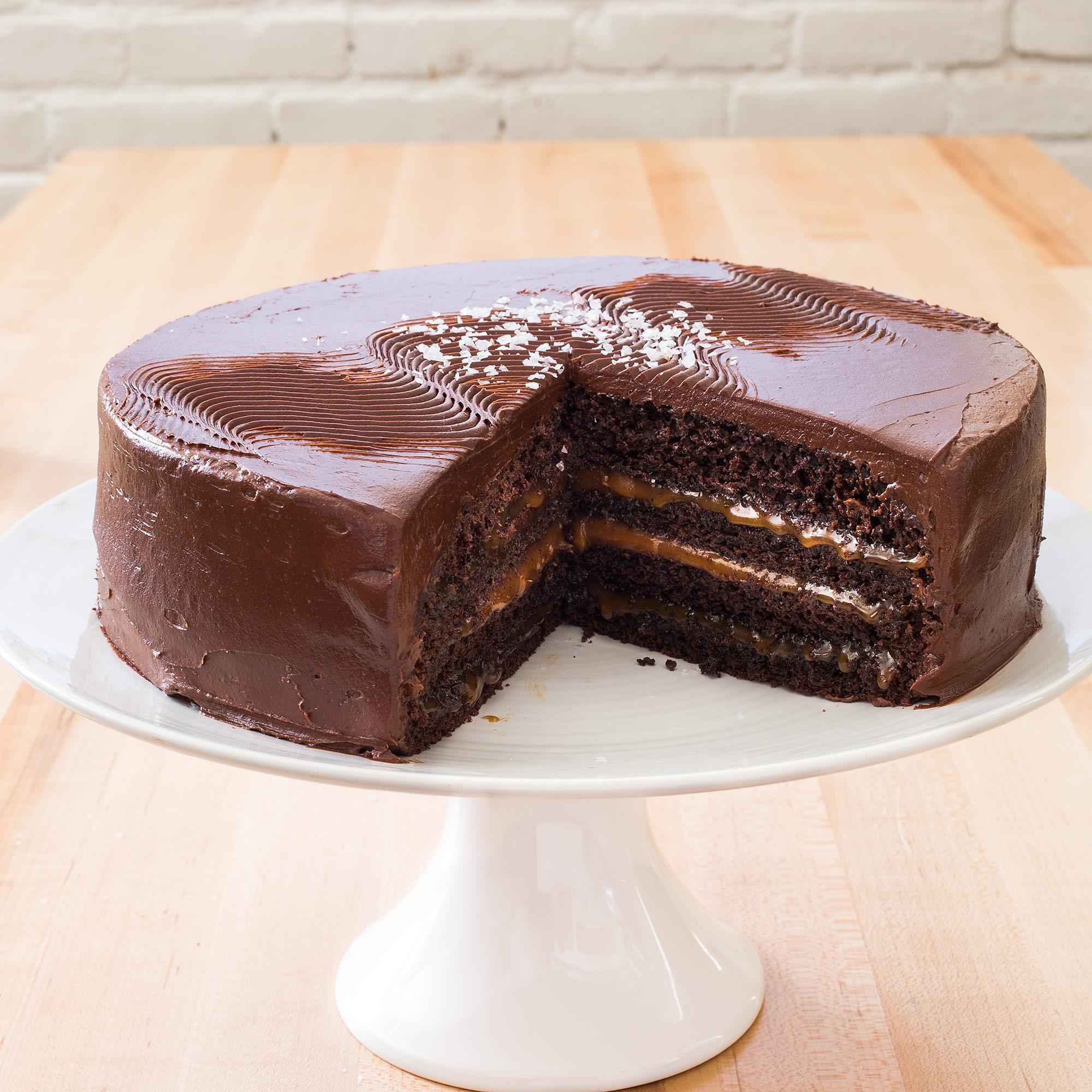 Chocolate Caramel Layer Cake America S Test Kitchen