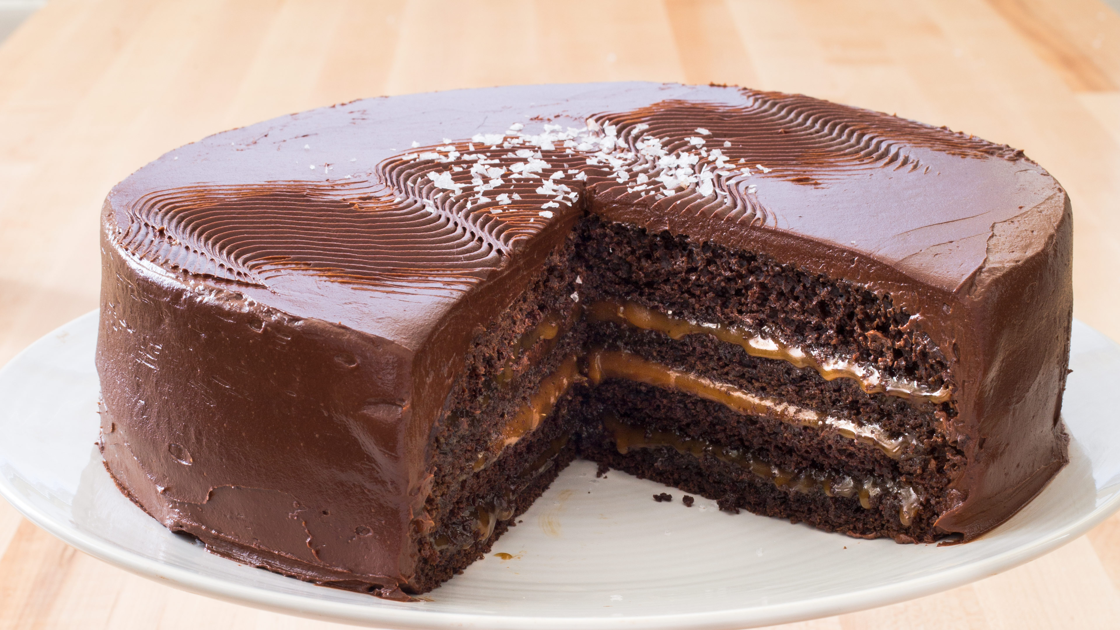 Chocolate Caramel Layer Cake America S Test Kitchen