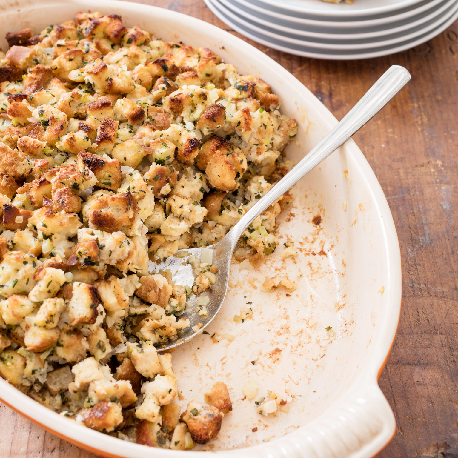 Classic Bread Stuffing for a Crowd