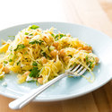 Spaghetti Squash Salad with Chickpeas and Feta