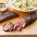 Flank Steak with Peanut Slaw