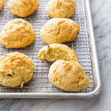 Cornmeal Drop Biscuits with Green Chiles