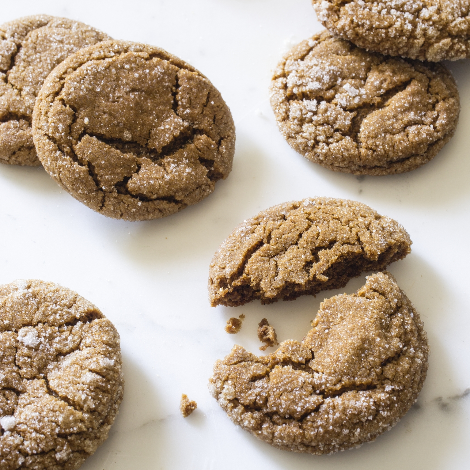Soft and Chewy Molasses Spice Cookies