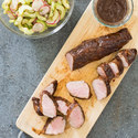 Plum-Glazed Grilled Pork Tenderloin