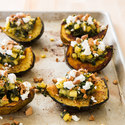 Stuffed Acorn Squash with Pear and Hazelnut