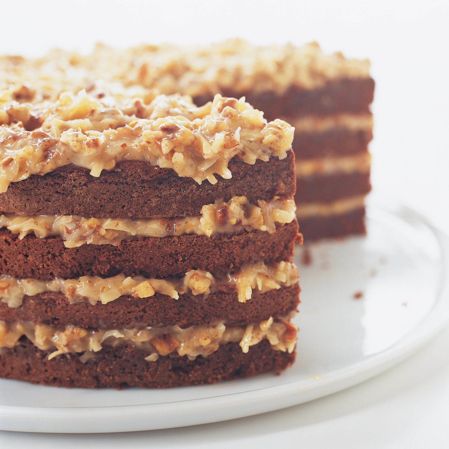 German Chocolate Cake with Coconut-Pecan Filling