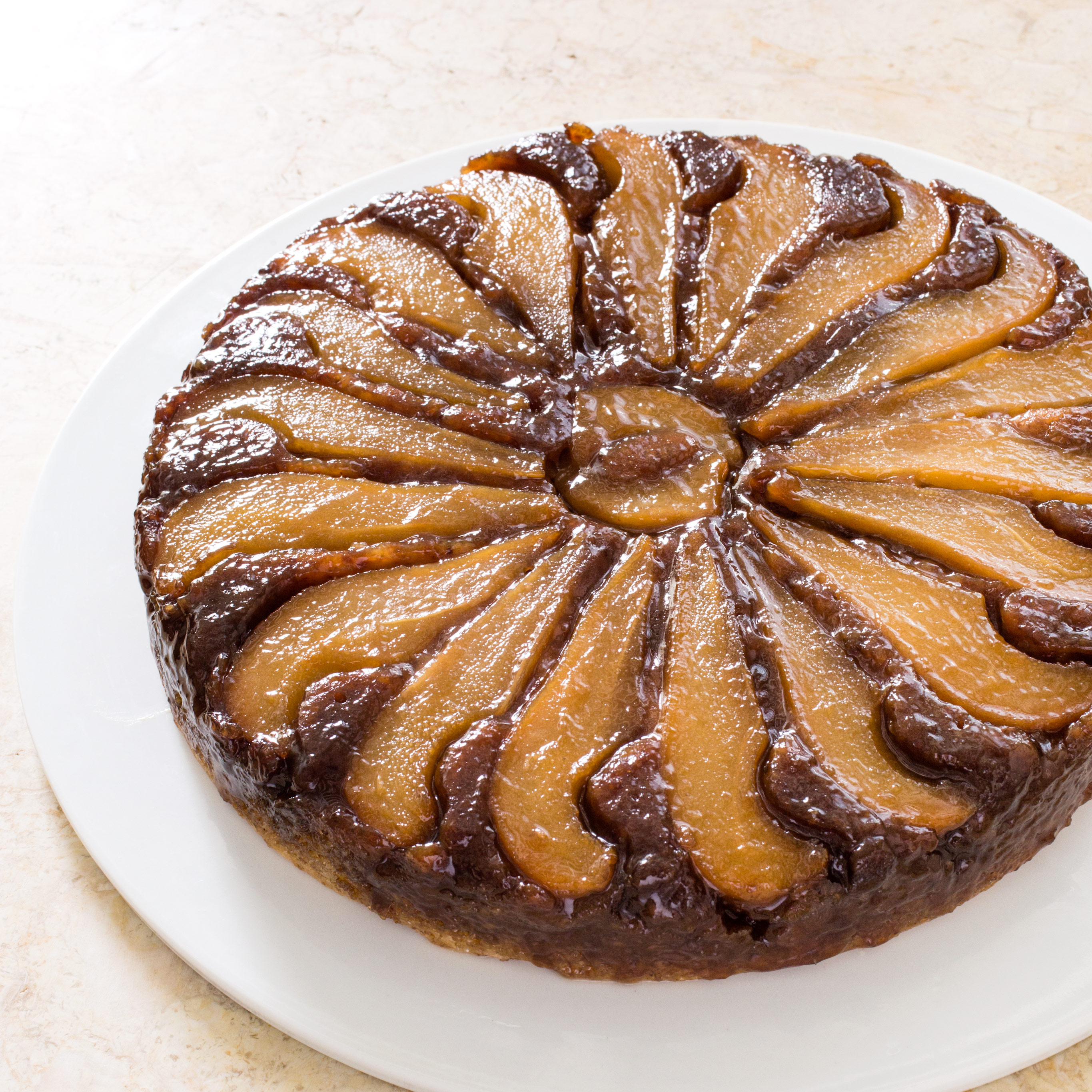 Test Kitchen Upside Down Pear Cake