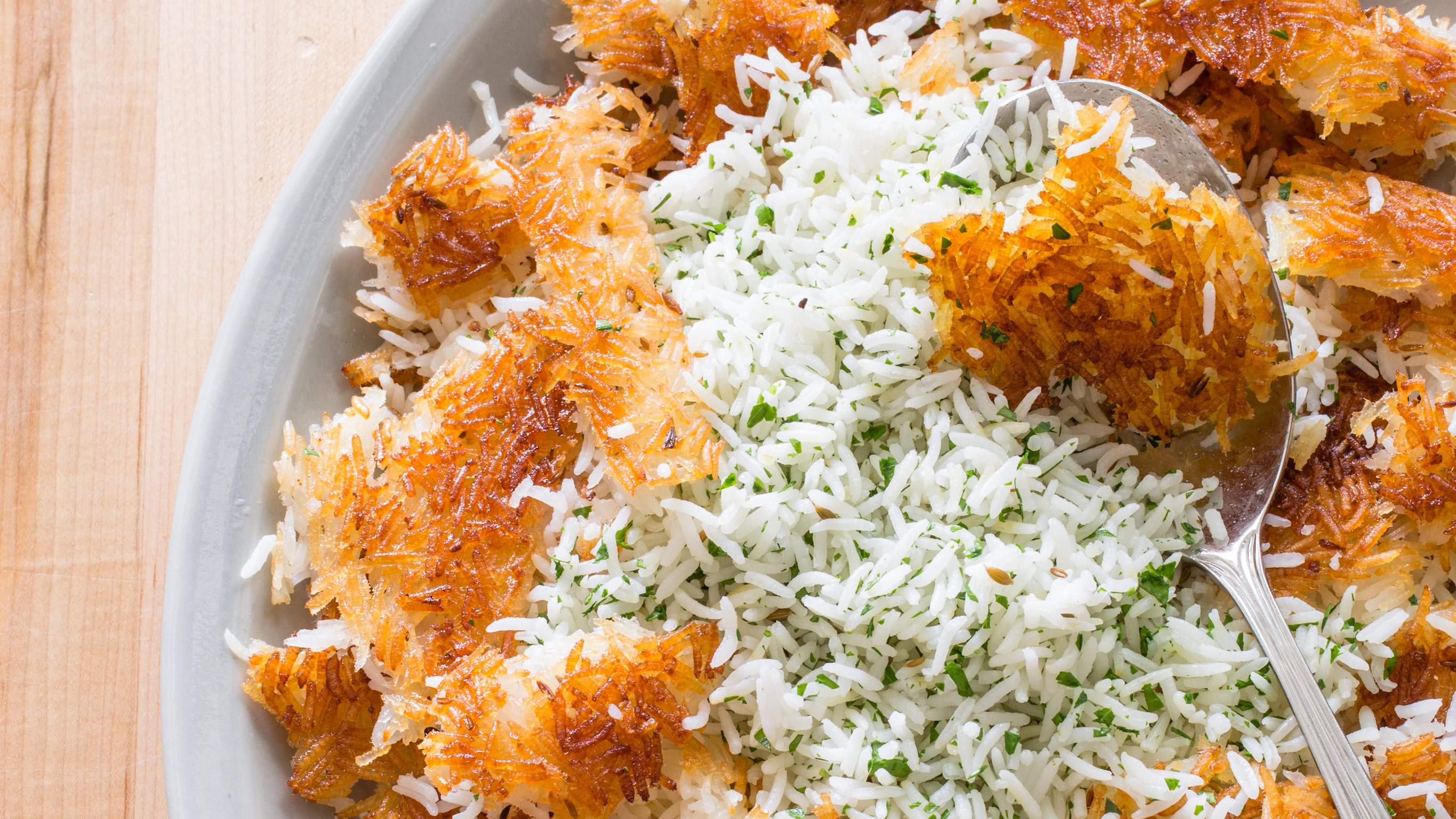 Persian Style Rice With Golden Crust America S Test Kitchen