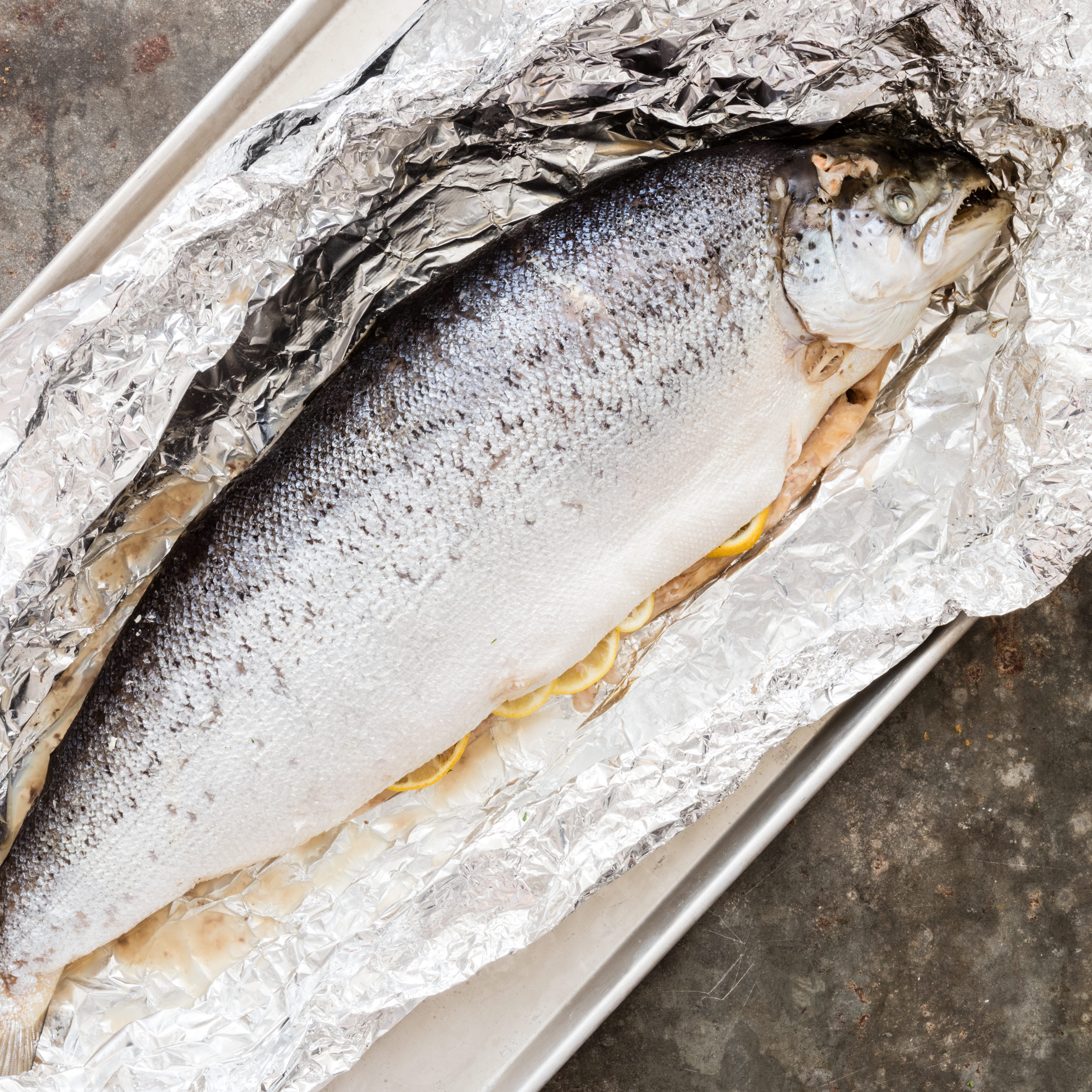 America S Test Kitchen Oven Poached Whole Salmon