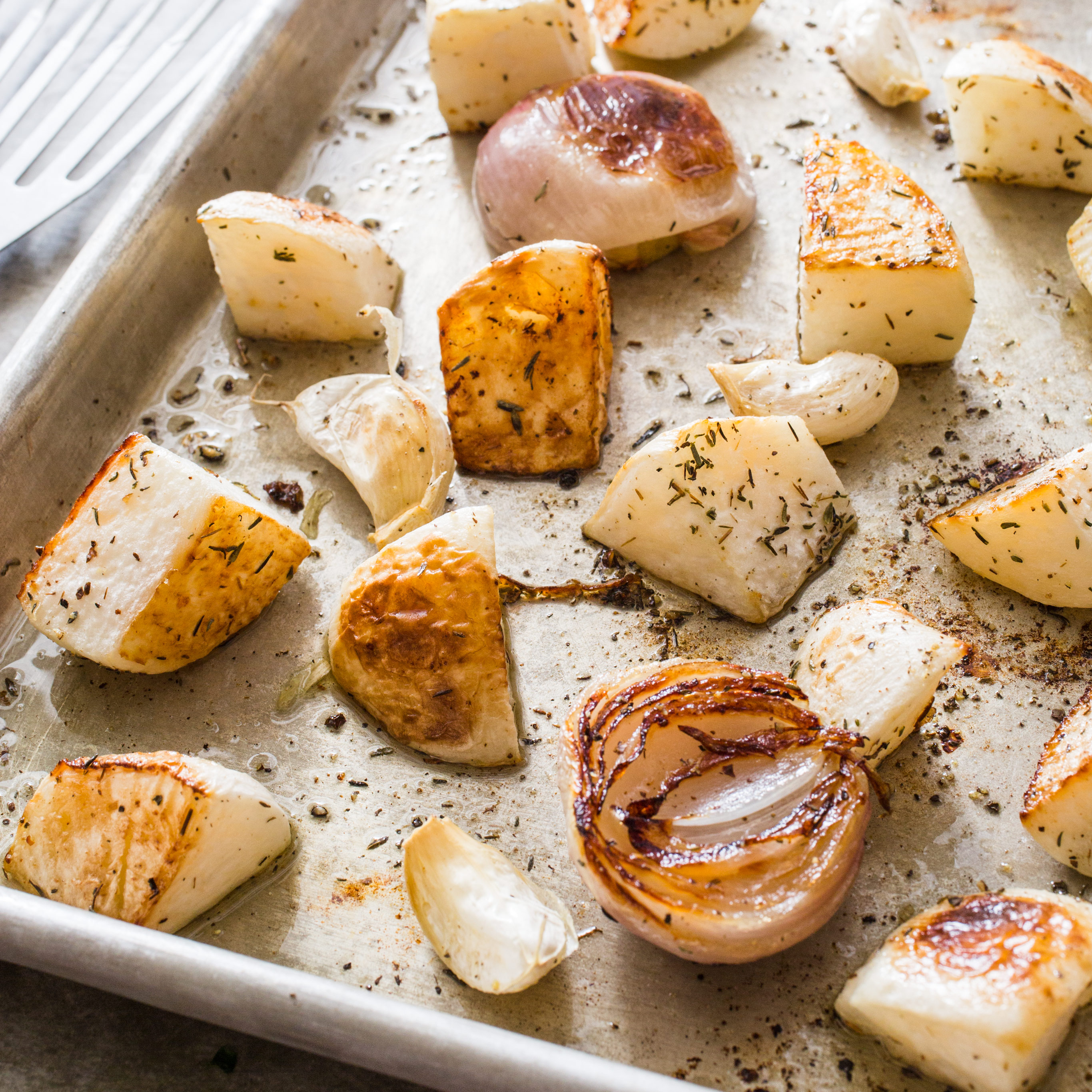 Roasted turnips bottoms