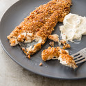 Pecan-Crusted Trout with Creamy Lemon-Garlic Sauce