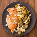 Pork Cutlets with Artichokes and Goat Cheese
