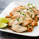 Pan-Seared Chicken with Spicy Pinto Beans