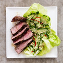 Beef Tenderloin with Chiles, Mint, and Cucumber