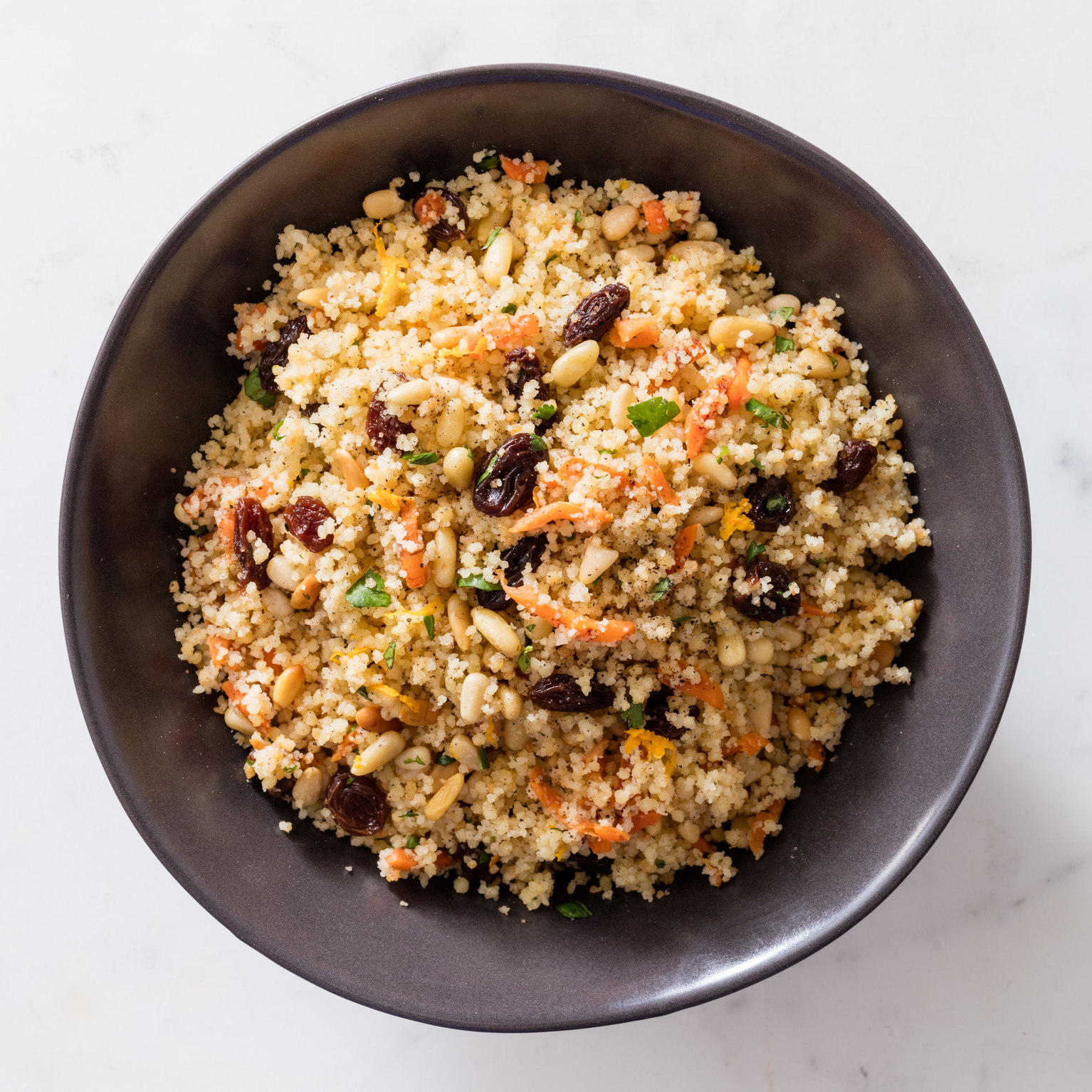 Couscous with Carrots, Raisins, and Pine Nuts