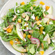 Arugula Salad with Pear Almond Goat Cheese and Apricots