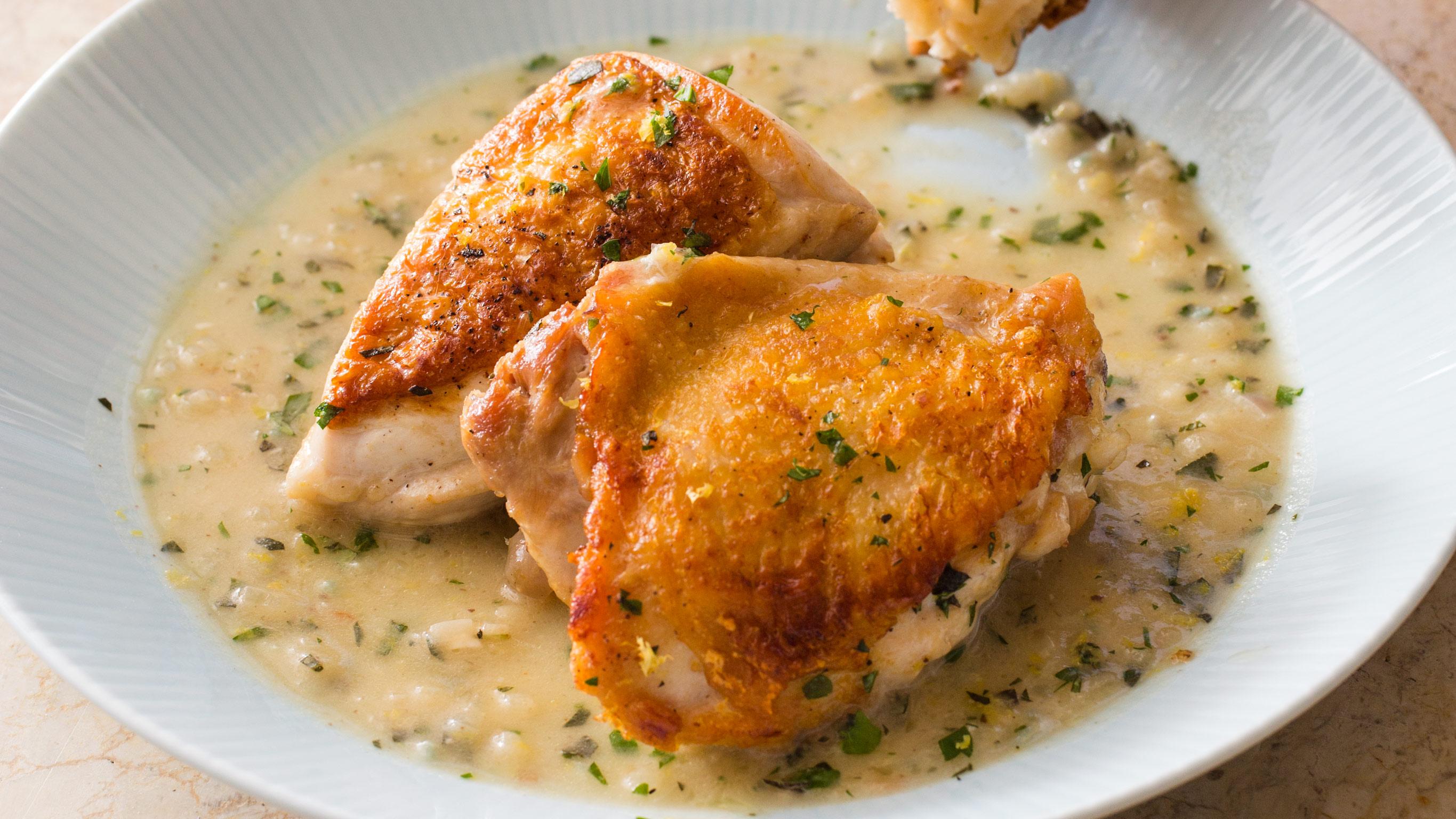 Skillet Roasted Chicken In Lemon Sauce America S Test Kitchen