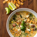 Roasted Corn and Poblano Chowder