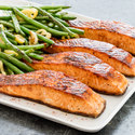 Pan-Seared Paprika Salmon with Spicy Green Beans