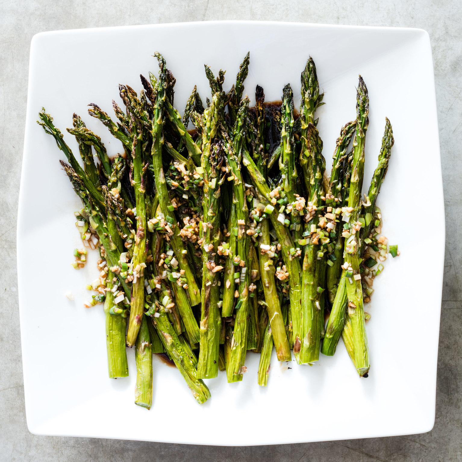 Broiled Asparagus with Soy-Ginger Vinaigrette