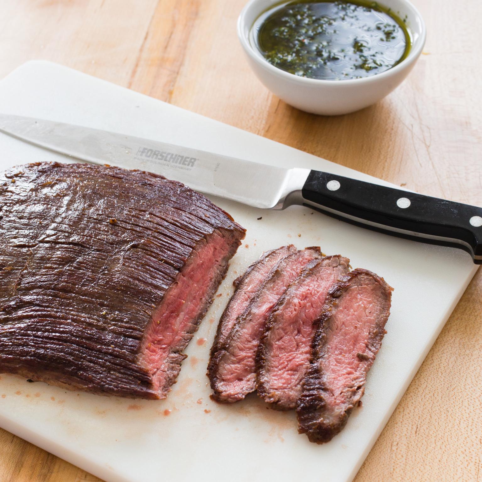 Paleo Seared Flank Steak with Chimichurri Sauce | America's Test ...