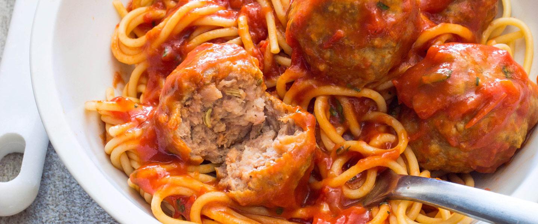 America S Test Kitchen Spaghetti And Sausage Meatballs