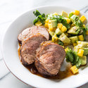 Caribbean Pork Tenderloin with Avocado-Mango Salad